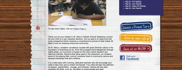 St. Mary's Catholic School - Fredericksburg, TX (Screenshot ii)