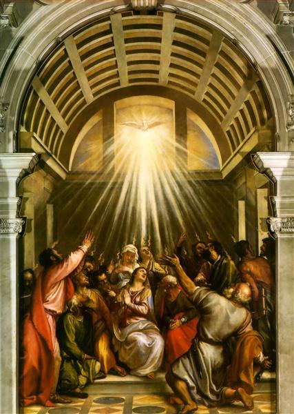 """""""Pentecost"""" by Titian (c. 1545)"""